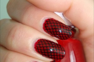 Nail , 6 Black Red Nail Design : Konad Nail Art Black Red