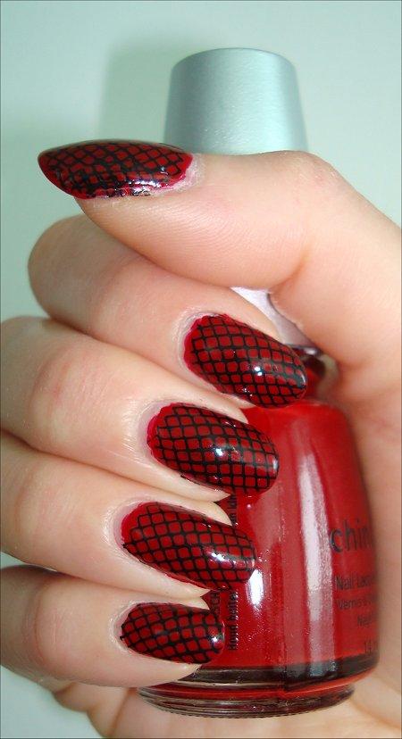 Konad nail art black red 6 black red nail design woman fashion large 450 x 828 prinsesfo Image collections