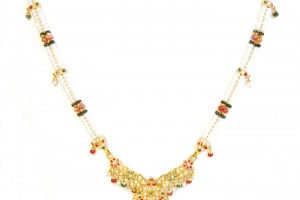 Jewelry , 8 Gold Necklaces For Women : Kundan Pearl Gold Necklace