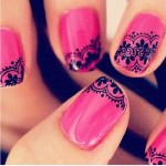 Lace Nail pink Art Designs , 10 Lace Nail Art Design In Nail Category