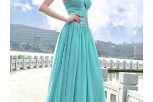 Fashion , 7 Long Vintage Prom Dresses : Long Blue Evening Dresses Vintage Chiffon Prom Dresses