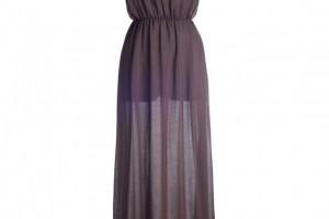 Fashion , 8 Vintage Long Gowns : Long Ladies Vintage Brown Dress
