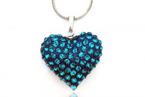 Jewelry , 6 Crystal Necklace : Love Blue Crystal Necklaces