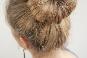 Hair Style , 6 Buns With Braiding Hair : Mini braids in a bun