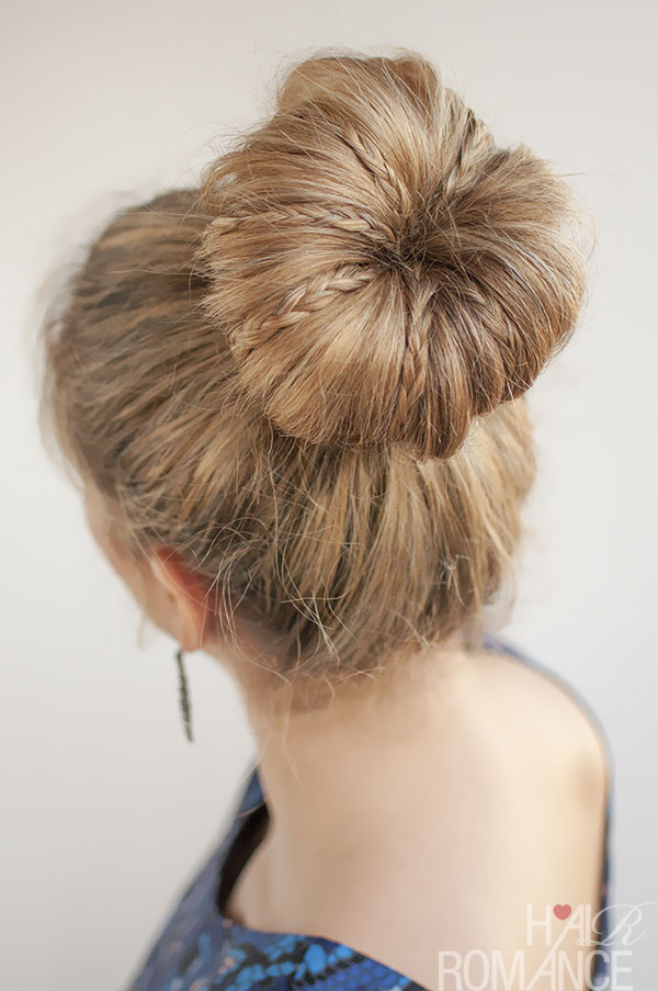 6 Buns With Braiding Hair in Hair Style