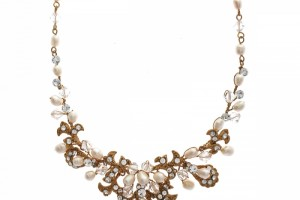 Jewelry , 7 Pearl And Crystal Necklace : Nadia Pearl and Crystal Necklace