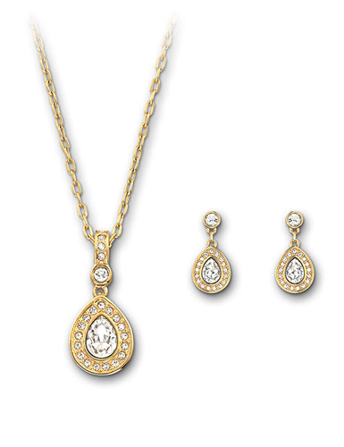 6 Crystal Necklace And Earring Set in Jewelry