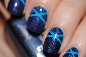 500x478px 6 Blue Prom Nail Designs Picture in Nail