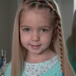 Little Girl\'s Hairstyles - Side Puffy Braid with Twist Braid 10-15 min ... , 6 Little Girls Twist Hairstyles In Hair Style Category