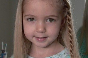 Hair Style , 6 Little Girls Twist Hairstyles : Little Girl\'s Hairstyles - Side Puffy Braid with Twist Braid 10-15 min ...