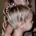 Little Girl\'s Hairstyles: Easy Twist Around Braided Ponytail 10-15 min ... , 6 Little Girls Twist Hairstyles In Hair Style Category