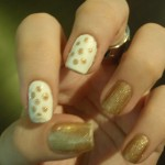 My inspiration: Jun\'s nails, I think she did this design late last ... , 6 Gold Nail Polish Ideas In Nail Category