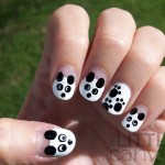 The Little Canvas: 31 Day Challenge   Day 8   Black And White   Pandas ... , 5 Panda Nail Art Designs In Nail Category
