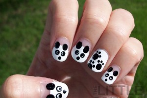 Nail , 5 Panda Nail Art Designs : The Little Canvas: 31 Day Challenge - Day 8 - Black and White - Pandas ...