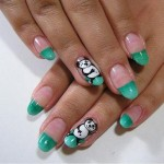Panda Green Nails Art Designs , 5 Panda Nail Art Designs In Nail Category