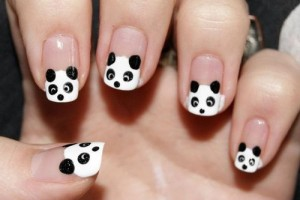 Nail , 5 Panda Nail Art Designs : Panda Kawaii Nail Art