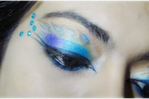 600x301px 6 Peacock Eye Makeup Tutorial Picture in Make Up