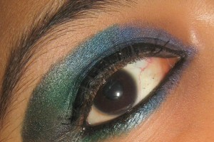 1024x997px 7 Peacock Eye Makeup Tutorial Picture in Make Up