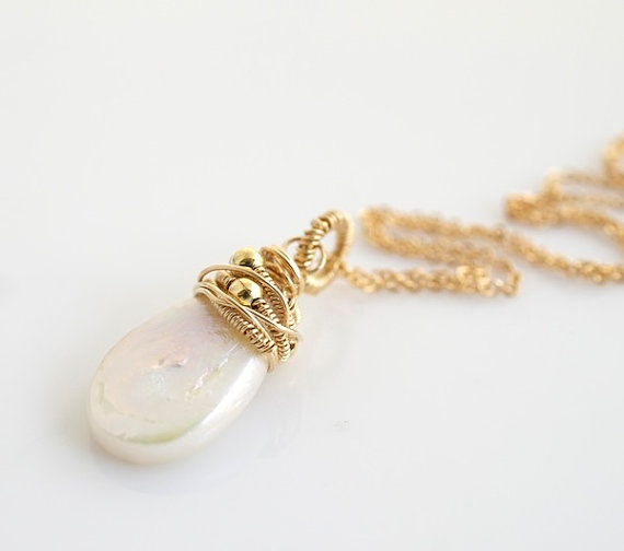 Jewelry , 12 Necklace Etsy : Pearl Pendant Etsy Necklace