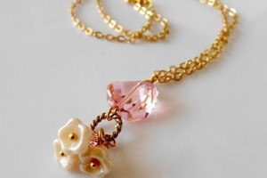 Jewelry , 7 Crystal Necklace Etsy : Pink Crystal Necklace, Etsy seller Five Little Gems