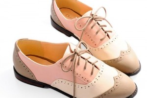 Shoes , 8 Vintage Style Dress Shoes : Pink Lace Up Flat Shoes
