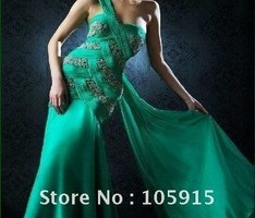 234x350px 6 Green Vintage Prom Dress Designs Picture in Fashion