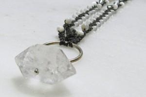 Jewelry , 7 Quartz Crystal Necklace Etsy : Quartz Crystal Micro Macrame Necklace etsy