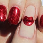 Red Lips Nail Art And Design , 7 Lips Nail Art Design In Nail Category