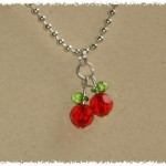 Red Swarovski Crystal Cherry Necklace on Etsy , 7 Swarovski Crystal Necklace Etsy In Jewelry Category