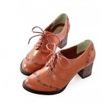 Rockabilly Fashion Dress Oxford Heels Shoe , 8 Vintage Style Dress Shoes In Shoes Category