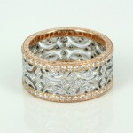 Rose white gold diamond ring , 12 Gold Diamond Ring In Jewelry Category