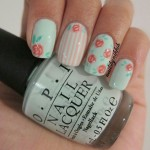 Second vintage flower nail design , 8 Vintage Style Nail Designs In Nail Category