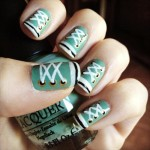 Shoe lace nail art , 10 Lace Nail Art Design In Nail Category