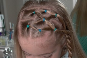 Hair Style , 5 Little Girls Twist Hairstyles : Side Puffy Braid with Twist Braid