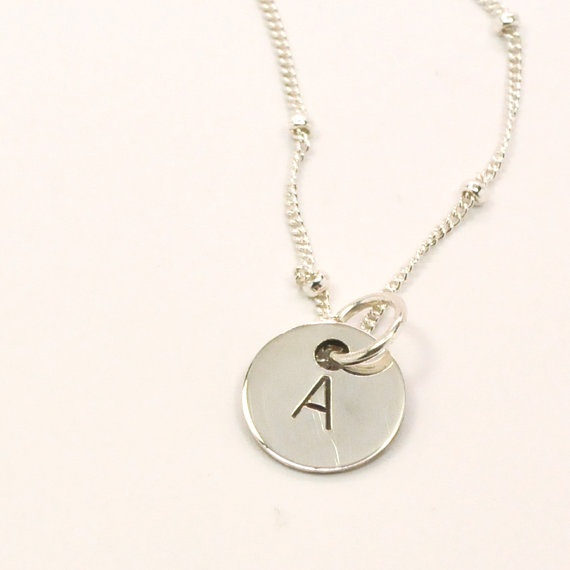 Jewelry , 12 Necklace Etsy : Silver Initial Necklace Ets