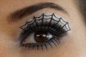 Make Up , 5 Spider Web Eye Makeup : Spider Web Eye Make-up Tutorial