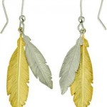 Sterling Silver and Gold Plated Silver Feather Drop Earrings at Argos ... , 13 Argos Gold Drop Earrings In Jewelry Category