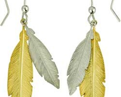 Jewelry , 13 Argos Gold Drop Earrings : Sterling Silver and Gold Plated Silver Feather Drop Earrings at Argos ...
