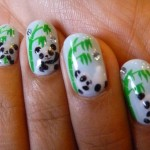 Stylish Panda Nails Art Designs , 5 Panda Nail Art Designs In Nail Category