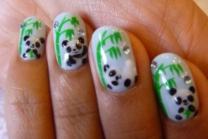 Nail , 5 Panda Nail Art Designs : Stylish Panda Nails Art Designs