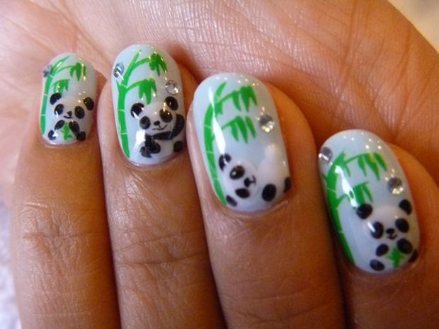 5 Panda Nail Art Designs in Nail