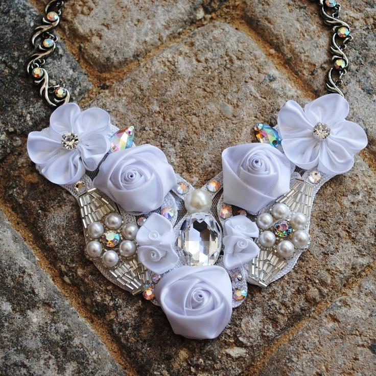 Jewelry , 7 Crystal Bib Necklace Etsy : Swarovski Crystal Bib Necklace On Etsy Glamour
