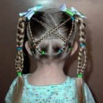 The Criss Cross Braid with Braid , 7 Little Girl Braided Hairstyles In Hair Style Category