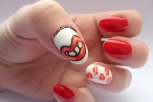 Nail , 7 Lips Nail Art Design : The Red Lippy Project Nails