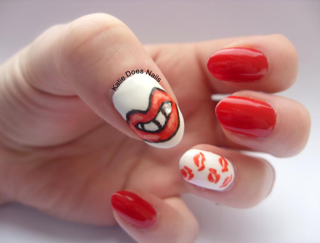Nail , 7 Lips Nail Art Design : The Red Lippy Project Nails