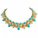 Tiffany Diamond and Turquoise Necklace , 12 Tiffany Necklace In Jewelry Category
