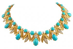 Jewelry , 12 Tiffany Necklace : Tiffany Diamond and Turquoise Necklace