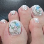 Toe Nail Art Design and style for Christmas Time 7 , 6 Nail Art Designs For Toes In Nail Category