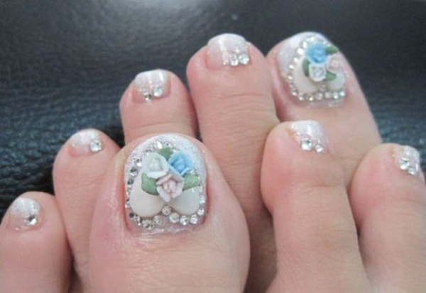 Nail , 6 Nail Art Designs For Toes : Toe Nail Art Design And Style For Christmas Time 7