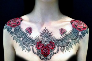 tattoo , 6 Necklace Tattoos For Women : Trendy Lace Tattoos for girls